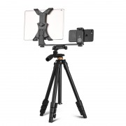 Q160A Aluminum Alloy Tripod with Ball Head for Sony Nikon Canon DSLR Cameras, Maximum Height: 122cm