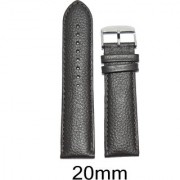 Like 20Mm Dotted Padded Matte Finish Leather Watch Strap (Dark Brown)