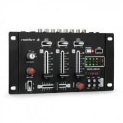 Resident DJ DJ-21 DJ-Mixer mesa de mezclas Bluetooth USB negro (DJMM2-DJ-21BT)