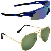 Zyaden Combo of 2 Sunglasses Sport and Aviator Sunglasses- COMBO 2802