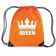 Bellatio Decorations Oranje Queen rugzak