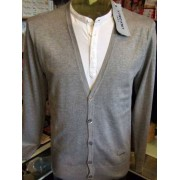 Y. Two Cardigan uomo Y.TWO con effetto doppia maglia, taglio moda