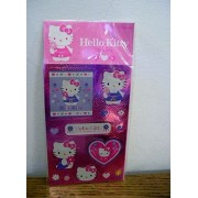Hello Kitty Hologram Stickers Spring Flowers Hearts