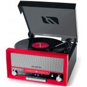 Muse MT-110 RD - Platenspeler, MP3 speler, FM radio en CD speler