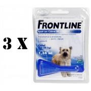 3 pipete Frontline Spot On caini 10-20 kg (M)