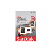 SanDisk Ultra 128GB UHS-I Class 10 MicroSDXC Memory Card Up To 80mb/s SDSQUNC-128G With Adapter