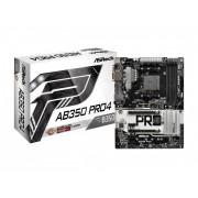 Matična ploča MB AM4 ASRock AB350 PRO4 , PCIe/DDR4/SATA3/GLAN/7.1/USB 3.1