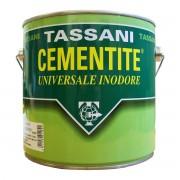 TASSANI Cementite Inodore Bianca 2,5 L Per Legno Muratura Pvc 9-13 M² Con 1 L