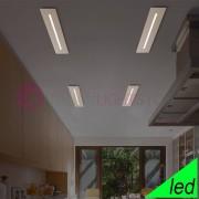 Cattaneo Illuminazione Centreline Plafoniera Led Rettangolare Ultrasottile L.102x12 Design Moderno