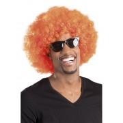 Vegaoo Orange afro/discoperuk vuxna One-size