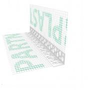 Narożnik PCV perforowany z siatką (146 g/m²) 140 mm L= 2,5mb pakiet 50szt.