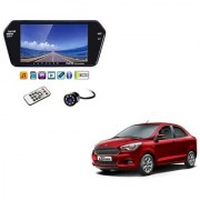 7 Inch Full HD Bluetooth LED Video Monitor Screen with USB Bluetooth + 8 LED Reverse Parking Camera For Ford Figo Aspire