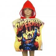 Marvel Superman zwembadponcho met rode capuchon