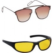 Spexra Sports Sunglasses(Yellow, Brown)