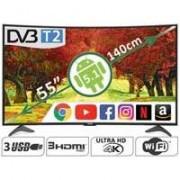 Colossus Zakrivljeni Smart LED televizor 55 inča 4K Ultra HD Android Wi-Fi DVB-T2