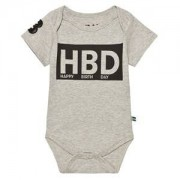 The BRAND HBD Baby Body Grey Mel 56/62 cm