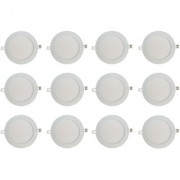 Bene LED 12w Round Slim Panel Ceiling Light Color of LED Warm White (Yellow) (Pack of 12 Pcs)