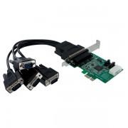 Tarjeta Adaptadora PCI Express PCIe 4 Puertos Serie Cable Multiconector RS232 16950 Serial