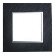 SOPIA Lichtschalter Einzelrahmen aus Glass (schiefergrau) 159321