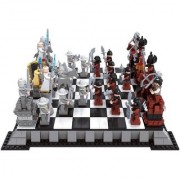 Emob 1142PCS Castle Series Unique 3D Theme Chess Model Building Blocks Set Toy with Minifigures (Multicolor)