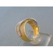 Zlatý dámsky prsteň exkluzívny žlté biele zlato zirkóny DP58450V