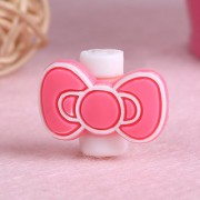 Smile Pick 1 Pair of Bow Knot Cartoon Character USB Cable Saver for iPhone iPod Ear Phone.(2 Pieces)