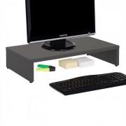 IDIMEX Support d'écran d'ordinateur MONITOR, en mélaminé gris mat