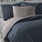 Lenjerie de pat din satin Luxury Collection, gri deschis/gri închis, 140 x 220 cm, 70 x 90 cm, 140 x 220 cm, 70 x 90 cm