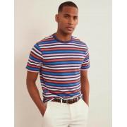 Boden Mehrfarbig Sommerliches gestreiftes T-Shirt mit Rundhalsausschnitt Herren Boden, L, Multi
