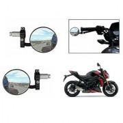 Kunjzone Bike Handle Grip Rear View Mirror BLACK Set Of 2- For Suzuki GSX-S1000