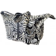 Faemke luiertas zebraprint koeienhuid - echt leer - mommy bag - diaper bag