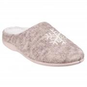 Fleet & Foster Womens/Slippers Metz Mule Slippers Beige 5 UK