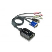 ATEN USB VGA/Audio Virtual Media KVM Adapter with Dual Output