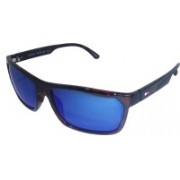 TOMMY HILFIGER Sports, Rectangular, Wrap-around Sunglasses(Blue)