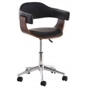 CLP Silla de Oficina Brügge , negro negro, altura del asiento