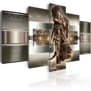 Willa Arlo Interiors 5-tlg. Leinwandbilder-Set Schlafender Buddha Willa Arlo Interiors Größe: 50 cm H x 100 cm B