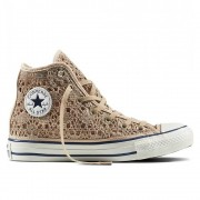 CONVERSE ALL STAR CT AS HI CROCHET LIGHT GOLD WHT NAVY