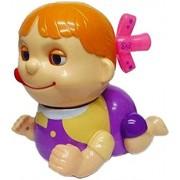 CuteToolKidz Naughty Baby Musical Crawling Girl Toy with Mummy Papa Saying Sound , Birthday Gift For Kids