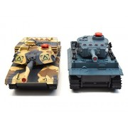 JOGOTO RC Radio Control Remote Control Battling Fighting Tanks - Set of 2 Full Size Infrared Battle Tanks