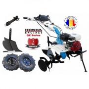 AGT 7580 HD Motocultor Premium cu motor Honda GX 200 ,putere 6.5 Cp , cutie de viteze din fonta