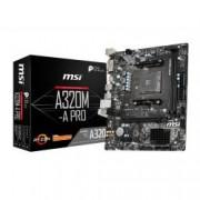 MSI MICROSTAR MB MSI A320M-A PRO AM4 RYZEN NO VGA 2D4 4S3 6U3 PCIE GBLAN DVI/HDMI