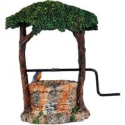 Wonderlnad Miniature fairy garden Ivy wishing well(12 x 7 x 13 cm)
