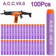 Refill Bullets, Yamix 100-Dart High Precision A.C.C.v5.0 Soft Refill Darts for Worker Flywheel Kit and nerf n-strike elite stryfe/rapidstrike cs-18