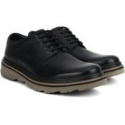 Clarks Frelan Lace Black Leather Boat Shoes For Men(Black)