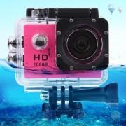 SJ4000 Full HD 1080P 1.5 inch LCD sport Camcorder met waterdichte geval 12.0 Mega CMOS Sensor 30m Waterproof(Magenta)