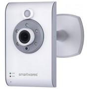 Smartwares 10.021.37 C733IP Videocamera IP per l'Interno, 720P HD Live, Visione Notturna Fino 5 m, Bianco
