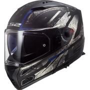 LS2 Metro Evo FF324 Buzz Motorcycle Helmet Black Grey Silver 2XS
