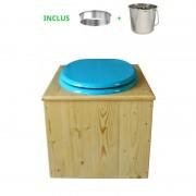 Toilette sèche - La Bleu turquoise inox huilée