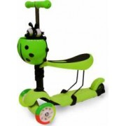 Trotineta Copii Action Smart Kid 3 IN 1 cu Roti luminoase, Verde