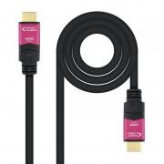 Nanocable Cabo HDMI V2.0 4K@60Hz 18Gbps com Repetidor Macho/Macho 15m Preto